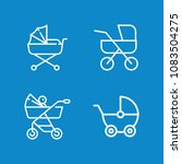 set of 4 carriage outline icons ...   Shutterstock .eps vector #1083504275