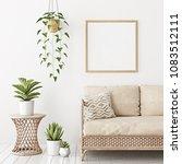 home interior poster mock up... | Shutterstock . vector #1083512111