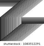 black and white stripe line... | Shutterstock .eps vector #1083512291