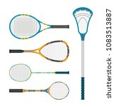 set of tennis and lacross... | Shutterstock .eps vector #1083513887
