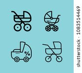 set of 4 carriage outline icons ...   Shutterstock .eps vector #1083514469