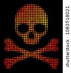 dotted death skull icon. bright ... | Shutterstock .eps vector #1083518021
