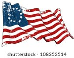 usa betsy ross flag scratched | Shutterstock . vector #108352514