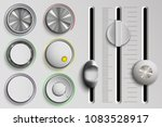 vector set of buttons and... | Shutterstock .eps vector #1083528917