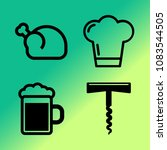 vector icon set about kitchen... | Shutterstock .eps vector #1083544505