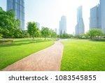 park in lujiazui financial... | Shutterstock . vector #1083545855