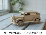 wooden toys  wooden plane and... | Shutterstock . vector #1083546485