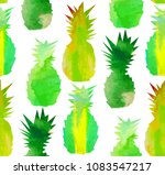 pineapple mix seamless pattern. ... | Shutterstock .eps vector #1083547217