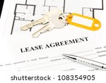 lease agreement document with... | Shutterstock . vector #108354905