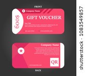 simple gift voucher vector... | Shutterstock .eps vector #1083549857