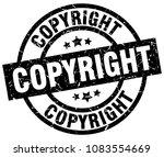 copyright round grunge black... | Shutterstock .eps vector #1083554669