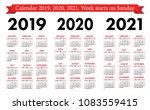 pocket calendar 2019  2020 ...   Shutterstock .eps vector #1083559415