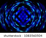 abstract background blue round... | Shutterstock . vector #1083560504