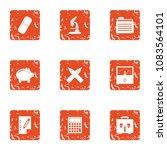 science nerd icons set. grunge...   Shutterstock .eps vector #1083564101