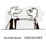 angry man yells at his... | Shutterstock .eps vector #1083564485