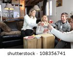 friends having party at home | Shutterstock . vector #108356741