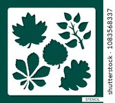stencil. flower theme.... | Shutterstock .eps vector #1083568337