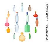 different bottles icons set....   Shutterstock .eps vector #1083568631