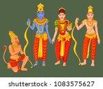 vector design of statue of... | Shutterstock .eps vector #1083575627