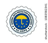 eu gdpr label illustration | Shutterstock .eps vector #1083582341