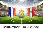 france vs peru. soccer concept. ... | Shutterstock . vector #1083590951