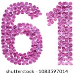 arabic numeral 61  sixty one ... | Shutterstock . vector #1083597014
