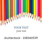 colour pencils isolated on... | Shutterstock . vector #108360539