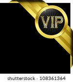 vip golden label with diamonds... | Shutterstock .eps vector #108361364