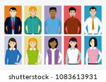 young people cartoons | Shutterstock .eps vector #1083613931