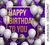 happy birthday vector... | Shutterstock .eps vector #1083622967