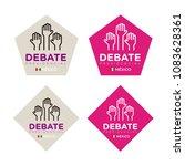 presidential debate. elections... | Shutterstock .eps vector #1083628361