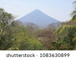 panoramic view on volcano... | Shutterstock . vector #1083630899