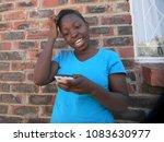 close up  of  a  joyful ...   Shutterstock . vector #1083630977