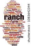 ranch word cloud concept.... | Shutterstock .eps vector #1083642344