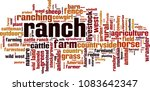ranch word cloud concept....   Shutterstock .eps vector #1083642347