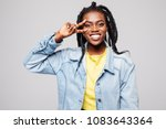 portrait of young woman taking... | Shutterstock . vector #1083643364