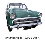 1957 hillman minx isolated with ... | Shutterstock . vector #10836454