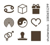 set of 9 shapes filled icons...   Shutterstock .eps vector #1083651299
