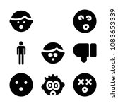 set of 9 gestures filled icons... | Shutterstock .eps vector #1083653339