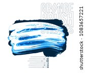 blue brush stroke and texture....   Shutterstock .eps vector #1083657221