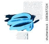 blue brush stroke and texture....   Shutterstock .eps vector #1083657224