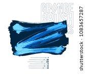 blue brush stroke and texture.... | Shutterstock .eps vector #1083657287