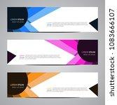 modern vector abstract... | Shutterstock .eps vector #1083666107