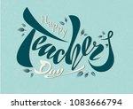 beautiful design happy teacher... | Shutterstock .eps vector #1083666794