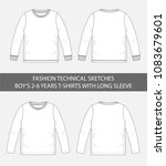 fashion technical sketches for...   Shutterstock .eps vector #1083679601