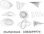 vector light set of hand drawn... | Shutterstock .eps vector #1083699974