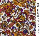 paisley. a seamless pattern... | Shutterstock .eps vector #1083701984