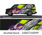 cargo van livery graphic vector....   Shutterstock .eps vector #1083710099