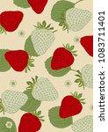 strawberry illustration vector   Shutterstock .eps vector #1083711401