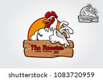 a happy cartoon rooster giving... | Shutterstock .eps vector #1083720959